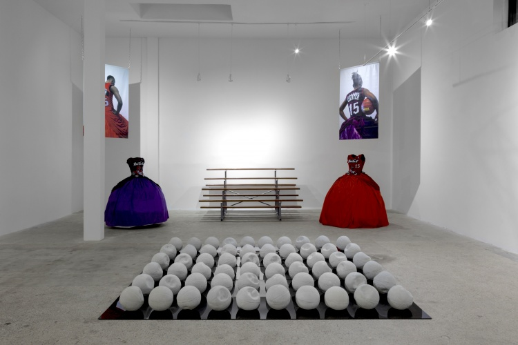 Esmaa Mohamoud, THREE-PEAT, installation view, 2018