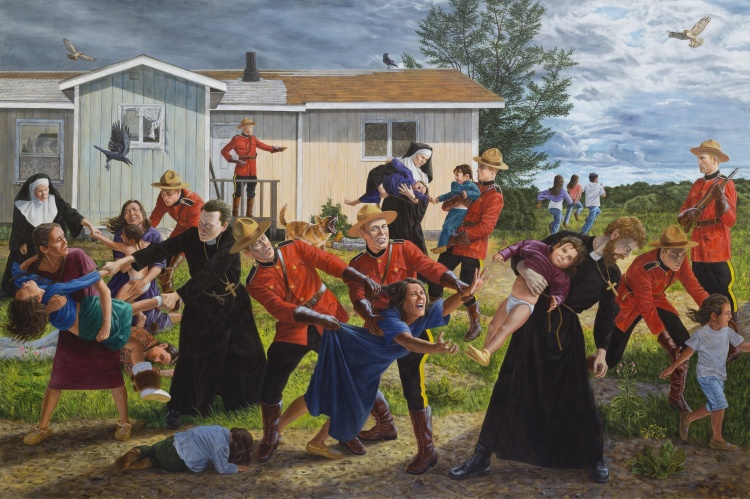 "Kent Monkman, ""The Scream,"" 2017. Collection of the Denver Art Museum."
