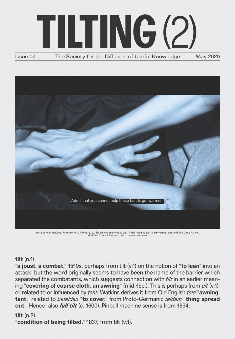 Cover Image: Ivetta Sunyoung Kang, <em>Proposition 1: Hands</em>, 2020, single-channel video, performed by Ivetta Sunyoung Kang and Eric Dong Ho You; COURTESY OF THE ARTIST