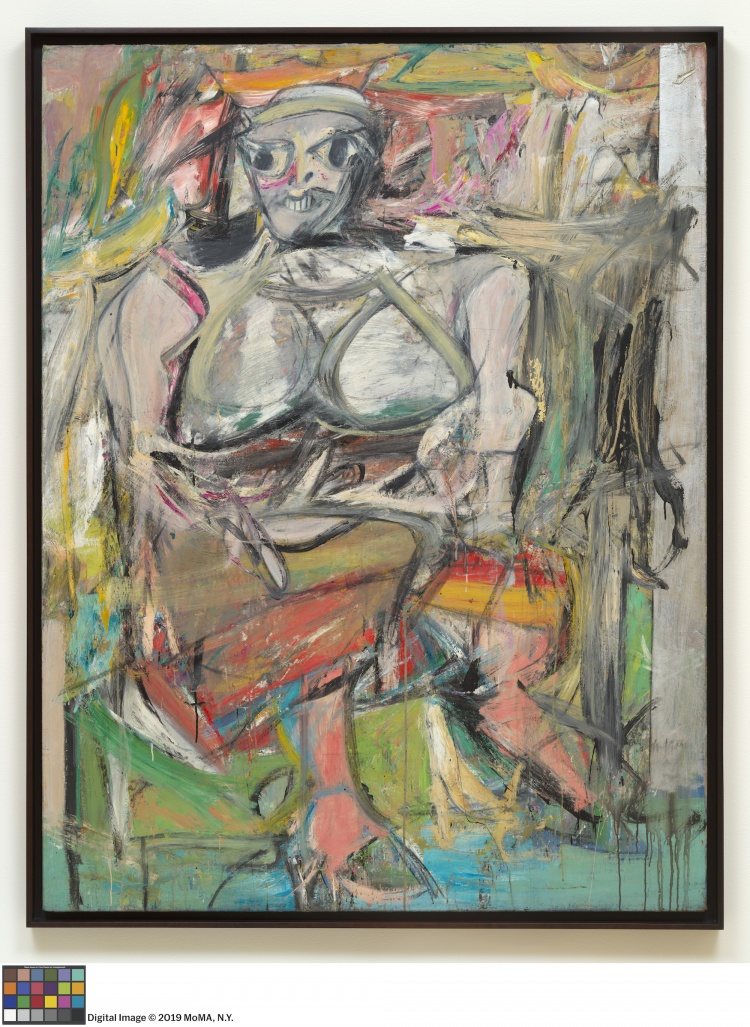 Willem de Kooning, Woman I, 1950-1952, oil on canvas, 192.7 cm × 147.3 cm, The Museum of Modern Art, New York City. © THE WILLEM DE KOONING FOUNDATION/ARS, NEW YORK/SOCAN, MONTREAL