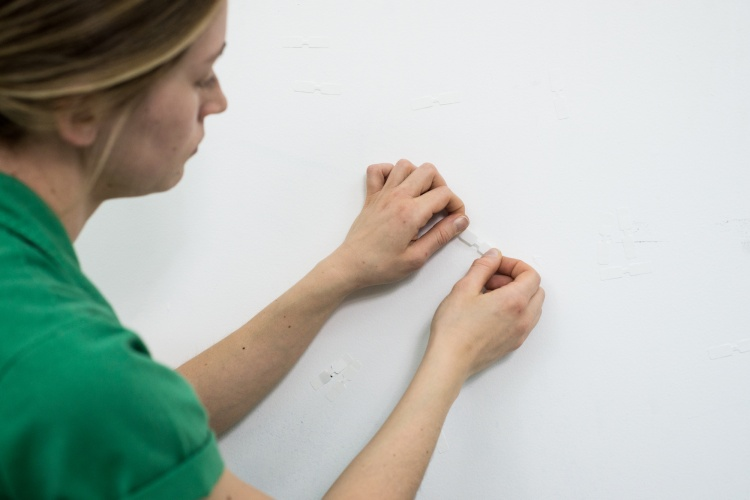 Alexis Bulman, Tending To, 2020, performance stills from MAKE/SHIFT, forthcoming 2020, Artspace, Peterborough PHOTO: PATRICK CALLBECK; © AND COURTESY OF ALEXIS BULMAN