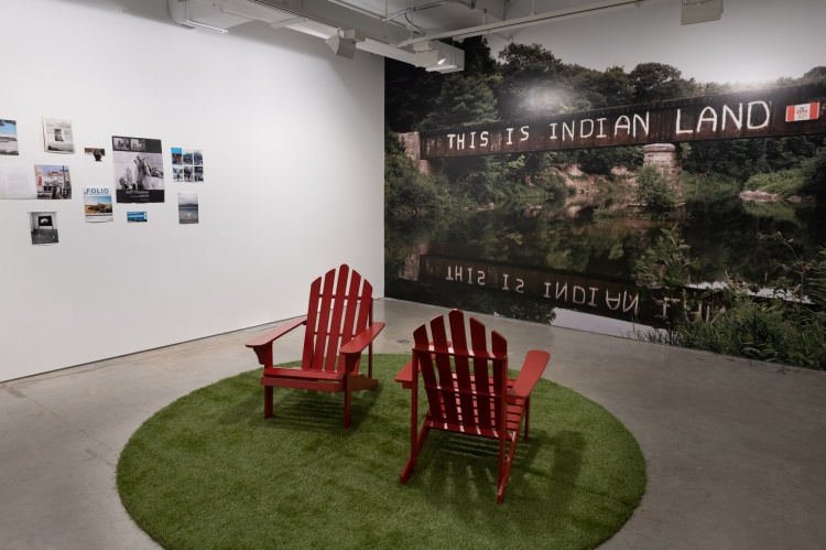 Installation view from Inside/Outside: Images of the LAND in Artexte's Collection, 2019, Artexte, Montreal photo: paul litherland; image courtesy of artexte